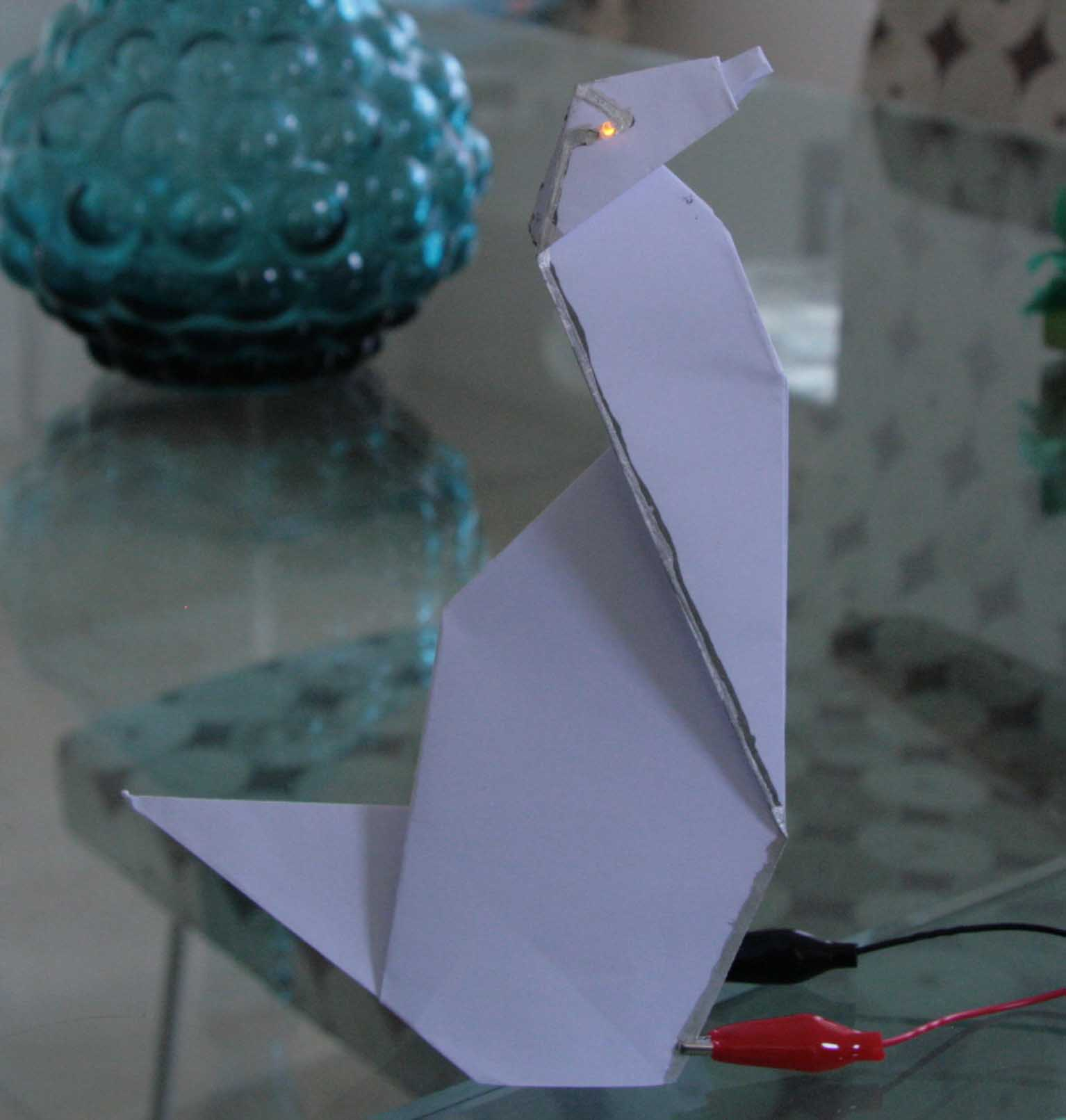 Origami Dog with Light-up Eyes